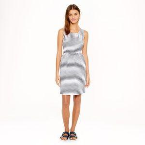 J. Crew navy & white striped dress